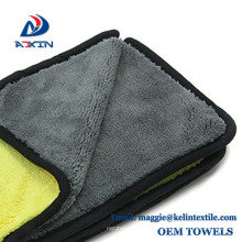 Double side1200gsm microfiber car cleaning detailing towel for sale
