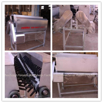 Máquina de limpieza de plumas de cuello para líneas de sacrificio de aves de corral