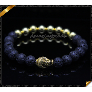 Hot Selling Matte Onyx Natural Stone Bracelets with Buddha Charms (CB083)