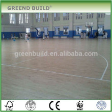 Solid wood birch panels basketball flooring