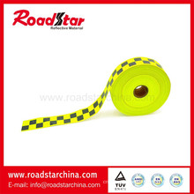 High visibility reflective caution tape