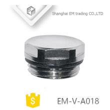 EM-V-A018 Messing Luftventilkappe Nickel plattiert Gewindestopfen Ende