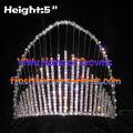 5inch Rainbow Crystal Rhinestone Crowns