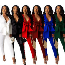 C9160 2020 Fashion ruffles air layer business uniform casual wear women