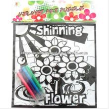 coloriage remplissage dans le fabricant du fabricant de puzzle, casse-tête rond