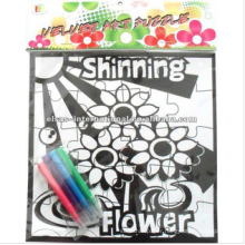 coloring filling in jigsaw manufacturer maker,round puzzles