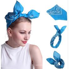 Benutzerdefinierte Logo Multifunktions-Bandana, Sport Stirnband Baumwolle quadratisch Hip-Hop-Schal