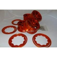 cnc orange aluminum 6 spoke buggy rims