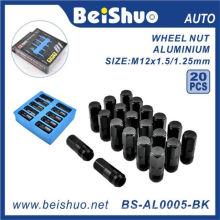 20PCS / Set Racing M12X1.25 Nouilles forgées en aluminium pour roues