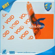 Impressão customizada Etiqueta de embalagem evidente Etiqueta adesivo auto-falante