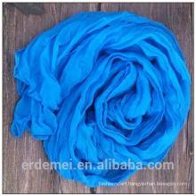 Blue polyester voile pakistani scarf hijab