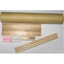 Efectos de escritorio de lápices de colores en papel redondo