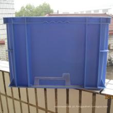 Recipiente de plástico empilhável com cores pantong-azul