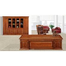 Mobiliário de mesa clássico de chefe de escritório de madeira sólida (HF-YM8A02)