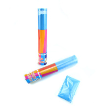 Color Run Holi Powder Gulal Powder Shooter Transparent Tube Smoke Confetti Cannon for Sport Celebration