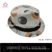 Bunte Baumwoll-Hochdruck-Fedora-Hut für Party neue Design Floding Hüte