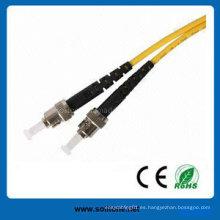 St Single Mode Duplex Cable de conexión de fibra óptica