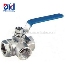 6 Threaded Cf8m Three Part M 58 Panel Mount Automatic Rubber Inflation 1000wog Ss 3 Way Ball Valve