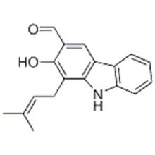 1-(3-Methyl-2-butenyl)-2-hydroxy-9H-carbazole-3-carbaldehyde CAS 17750-35-5