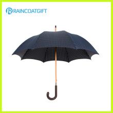 Paraguas de madera Pongee negro 190t para uso en exteriores