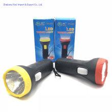 858 Cheap LED Battery Plastic Torch Flashlight