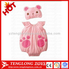 Cheap 2015 newest design lovely pink cat soft baby girls romper