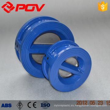 Wafer connect Válvula de retención de doble placa de material de hierro fundido