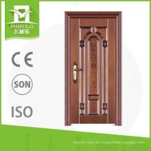 Puertas de acero de la entrada delantera del apartamento barato del buen diseño chino para la venta