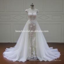 XF16073 mais novo design vestidos de noiva com trem 2017 vestidos de noiva