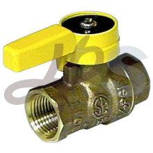 válvula de esfera de bronze de carcaça para o gás