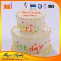 Bolo de aniversário de cera de alta qualidade em forma de velas