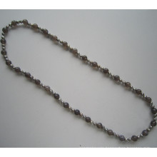 Long Pretty Freshwater Pearl Costume Necklace