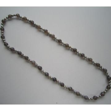 Lange hübsche Süßwasserperlen-Kostüm-Halskette