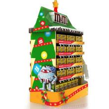 POS Supermarkt Karton Paletten Display für Schokolade Weihnachten Waren
