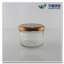150ml Wide Mouth Glass Caviar Jam Jar with Copper Lid