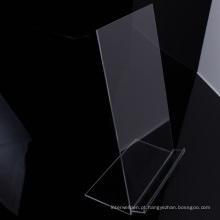 Camisa acrílica do suporte de exposição da roupa do Desktop transparente