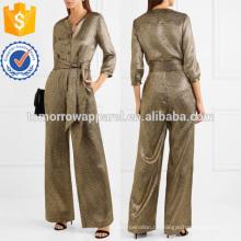 Lame Jumpsuit aus einer Seidenmischung Manufacture Wholesale Fashion Damen Bekleidung (TA30010J)
