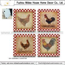 Coaster de cerámica de encargo de la fábrica de China