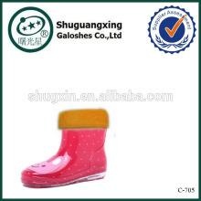 lluvia Botas zapatos de la jalea para los niños, cargadores de lluvia de fábrica invierno/C-705