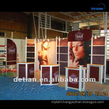 3 sides open aluminum exhibit stand rental in shanghai, with one back wall
