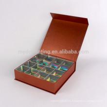 Envases cuadrados de papel de lujo de alta calidad personalizados para chocolate