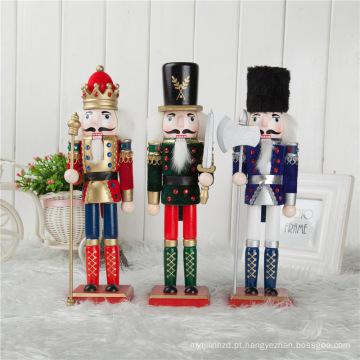 FQ marca gigante ao ar livre natal nutcracker decoração boutique ao ar livre gigante nutcracker de madeira ornamentos