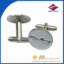 Custom round metal enamel cufflinks for sale