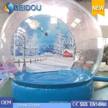 Прочный Гигантский Рождественский Фото Человеческий Снежный Глобус Надувной Купол Снега