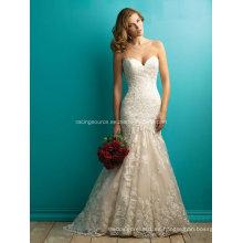 Vestido de novia de encaje de encaje de Meraid vestido de novia