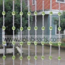 "High Quality for acrylic crystal bead curtain ""Party Decoration 22MM&8MM  Wire Acrylic Beading Garland Trim"" supply to Portugal Supplier"