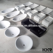 Acrylic Stone Over Counter Solid Surface Wash Basin