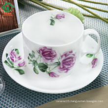 Modern ceramic tea cup and saucer bulk cheap