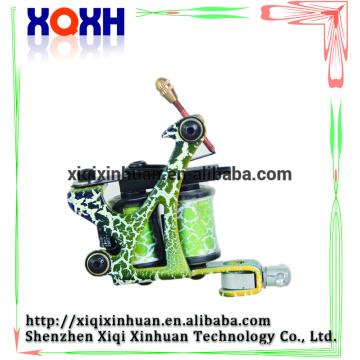 Profissional Green tatuagem metralhadora para Shader Liner 8 Wrap bobinas