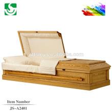 Trade Assurance simple velvet wood casket